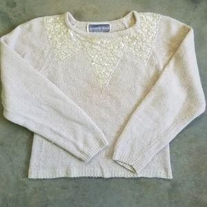 Vintage Samatha Starr Cream & Sequins Sweater
